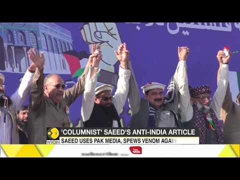 26/11 mastermind Hafiz Saeed pens column in Pak newspaper