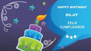 Diljit   Card Tarjeta - Happy Birthday