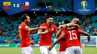 Chile consigue su pase a costa de Ecuador | Ecuador 1 - 2 Chile | Copa América | Televisa Deportes