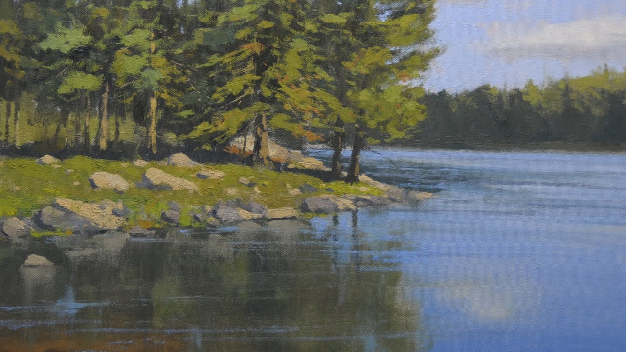 how to paint water with oil paints youtube