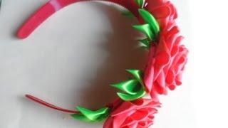hand made Как сделать ободок с розами  Канзаши роза(Алина Болобан продемонстрирует мастер класс Канзаши как украсить розами ободок для волос добавить к ним..., 2013-07-08T19:33:34.000Z)