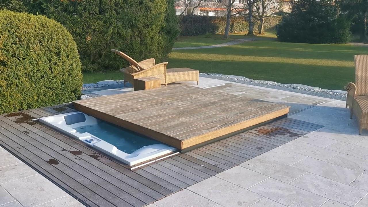 Infinitas Whirlpool Abdeckung automatisch / vollautomatisch elektrisch  Terrasse begehbar