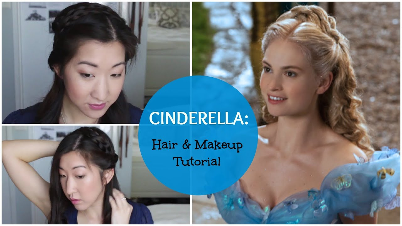 Cinderella 2015 hair and makeup tutorial lily james version cinderella 2015 hair and makeup tutorial lily james version youtube baditri Gallery