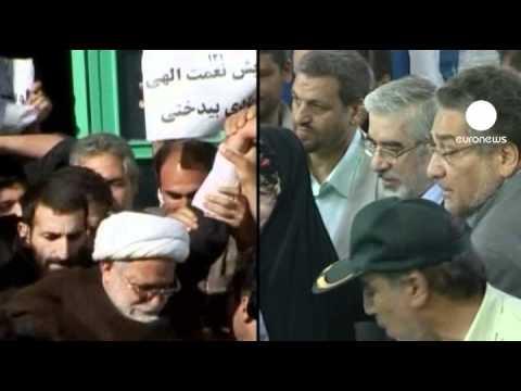 Iranian opposition leaders Mousavi and Karroubi...