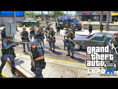 LSPDFR #439 - SWAT TEAM! SWAT POLICE PATROL!! (GTA 5 REAL LIFE POLICE MOD)