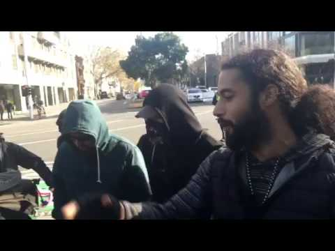 Australian Greens burn Aussie Flag