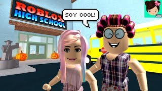 Playing at Roblox High School - My Grandmother Embarrassed me and Angered the Principal