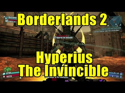 borderlands 2 hyperius the invincible weakness