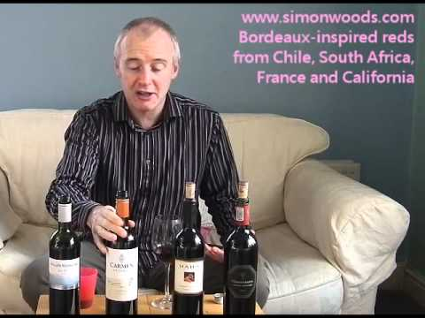 Wine with Simon Woods: Cabs from California & S Africa, Chilean Carmenere, French Malbec