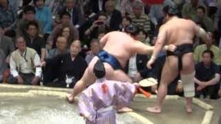 20130518 大相撲夏場所7日目 豪栄道vs安美錦 安美錦いいとこなし.