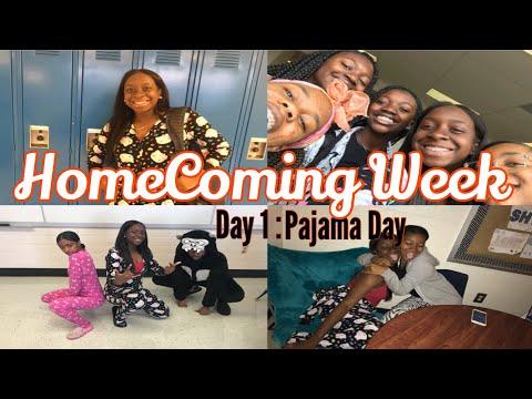 HOMECOMING WEEK DAY 1: PAJAMA DAY | Kristina Denise