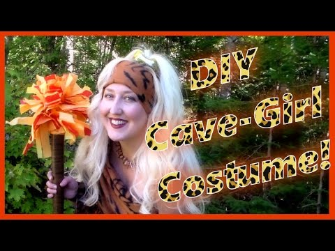DIY Cave-Girl Halloween Costume with Jewelry & Accessories!