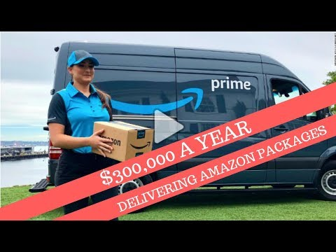 $300,000 Delivering packages for Amazon?