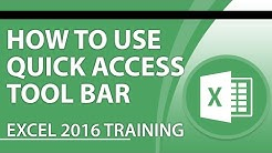 Excel 2016 Tutorial: Using the Quick Access Toolbar in Excel 2016