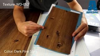 Artesive WD-052 Dark Pine Slats - Texture Model of Self-adhesive Film