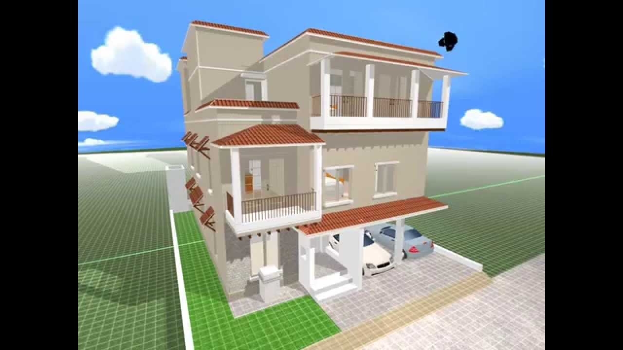 Multi Story Home Design Rendered In 3d Using
