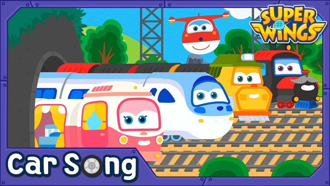 Choo Choo Train | Car Song | SuperWings Songs for kids