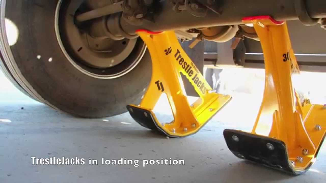 Trestlejacks Lifting A Trailer Link In 7 Minutes Youtube