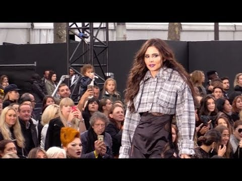 Cheryl Cole walking the runway of the L Oreal Paris fashion show In Paris