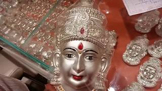 Padi Saravana Stores Silver Collection Silver Lakshmi Face