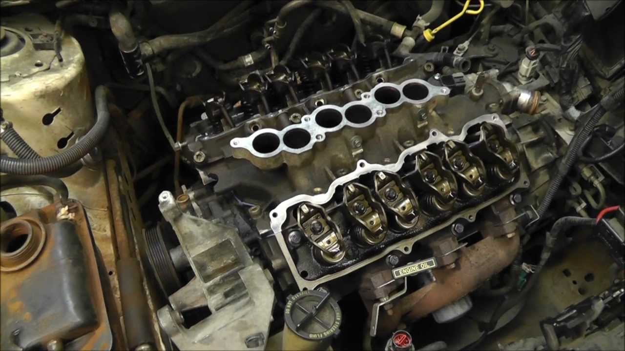 replacing head gaskets on a ford taurus 3 0l v6 ohv engine with time lapse rwgresearch com youtube [ 1280 x 720 Pixel ]