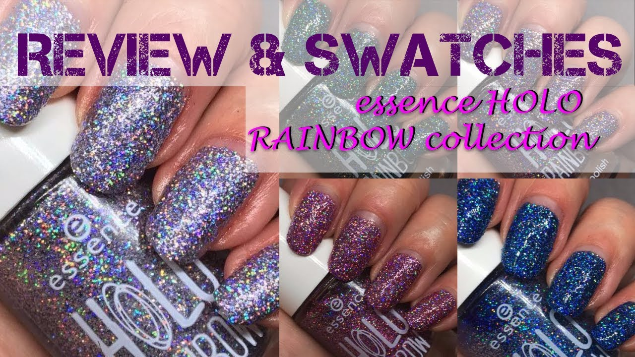 essence HOLO Rainbow polishes -Swatches and review - YouTube