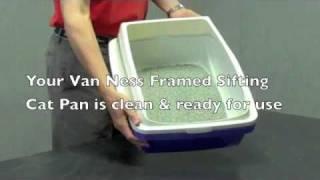 Van Ness Framed Sifting Cat Pan Demonstration