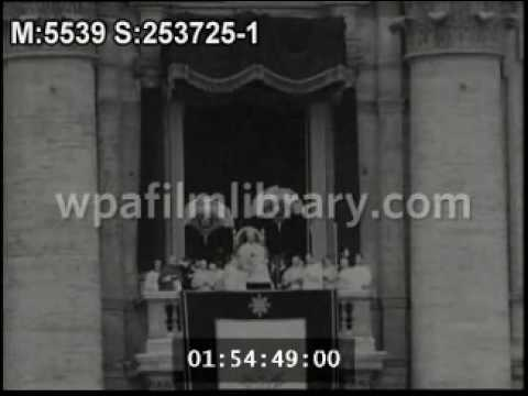 Extremely Rare footage of Pope Pius X's Apostolic Blessing and voice.