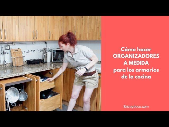 COMO ORGANIZAR armarios de la cocina con accesorios a medida| BRICOYDECO LOWCOST