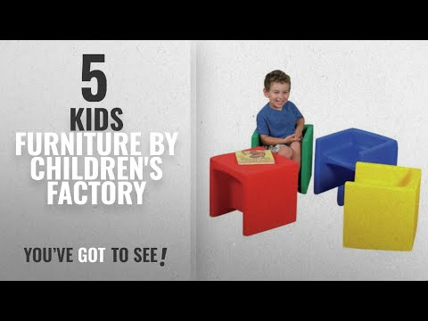 Top 10 Children's Factory Kids Furniture [2018]: Cube Kids Chair - Set of 4