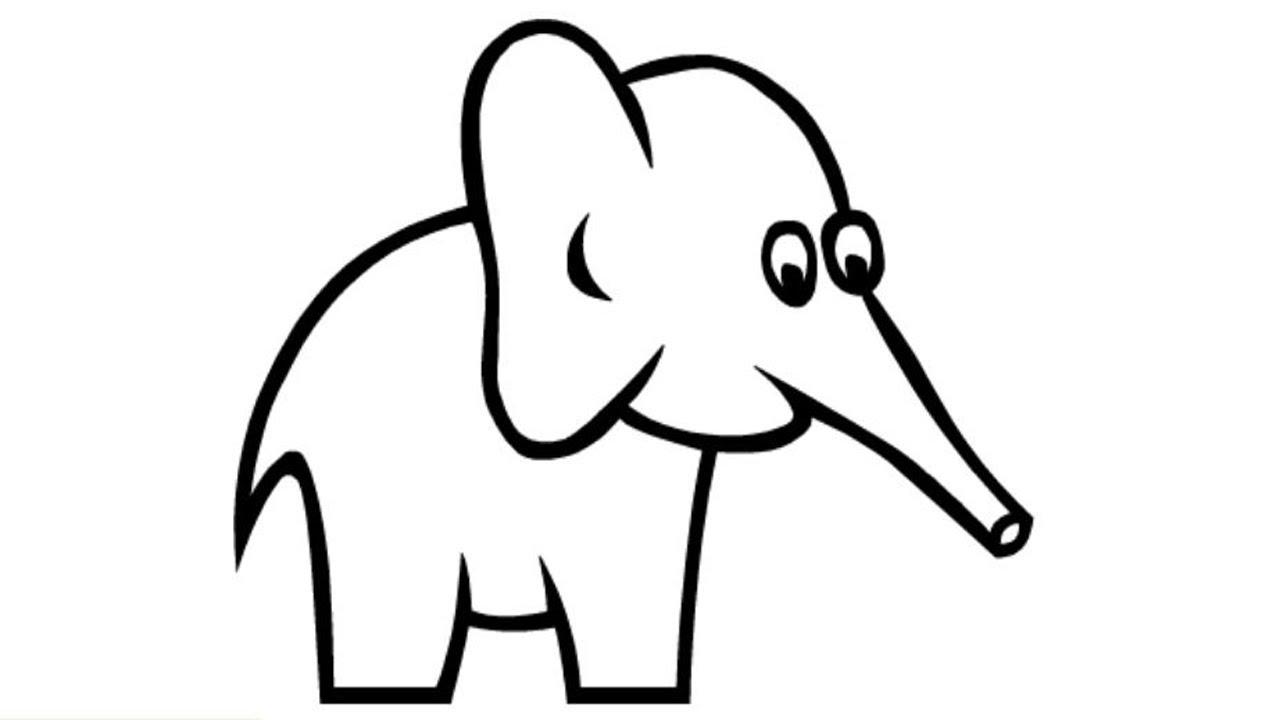 how to draw a elephant how to draw a cute elephant easy