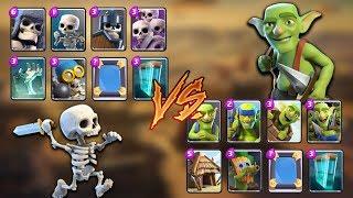 Goblins vs Skeletons Clash Royale Challenge   Epic Battle
