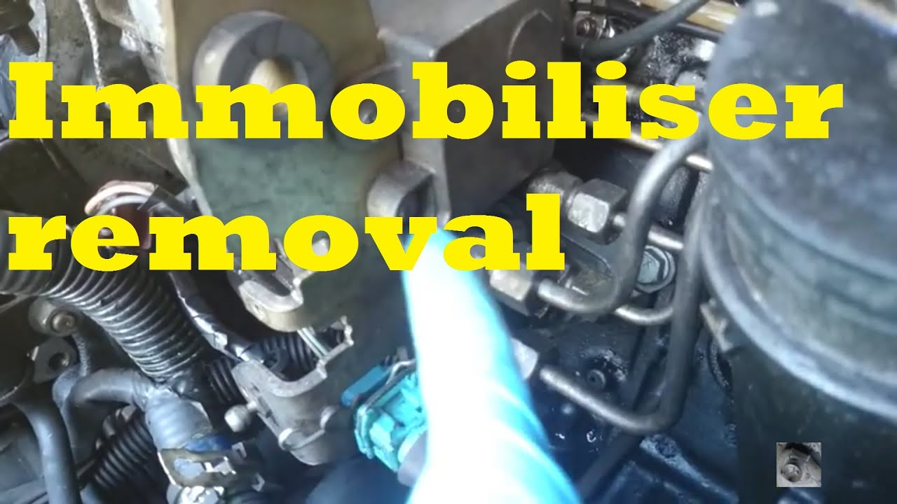 how to  immobiliser removal  peugeot citroen  xud turbo