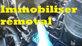 HOW TO: Immobiliser removal, Peugeot Citroen, XUD turbo diesel