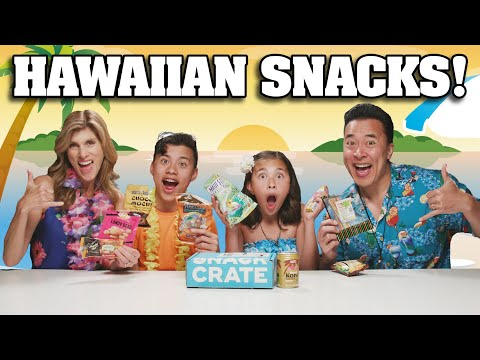 TRYING HAWAIIAN SNACKS Family Snack Challenge - Snack Crate