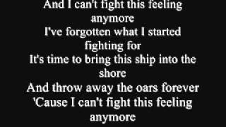 Chicago I Can 39 t Fight This Feeling Anymore Lyrics