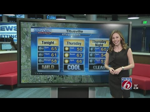 Pinpointing weather in Titusville