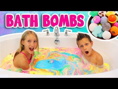 BATH BOMB CHALLENGE!!!!