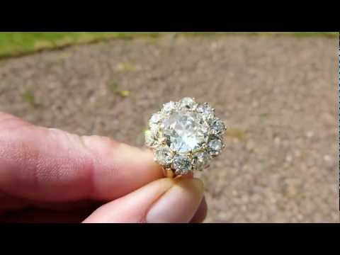 www.fineantiquediamonds.co.uk VERY FINE ANTIQUE OLD CUT DIAMOND CLUSTER RING