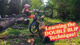 Learning The Double Blip On A Dirt Bike