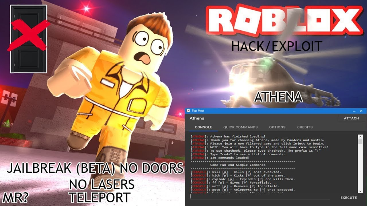 Roblox Hack Exploit Jailbreak Beta Athena No Doors No
