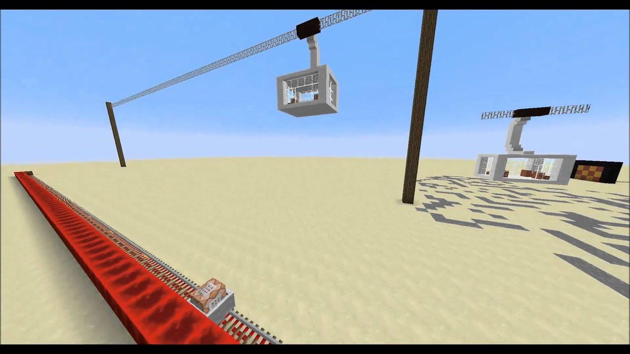 minecraft fahrende seilbahn mit /clone command - youtube