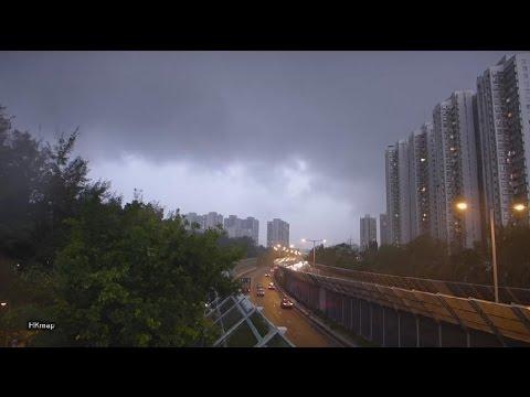 rain storm @ hong kong new territories