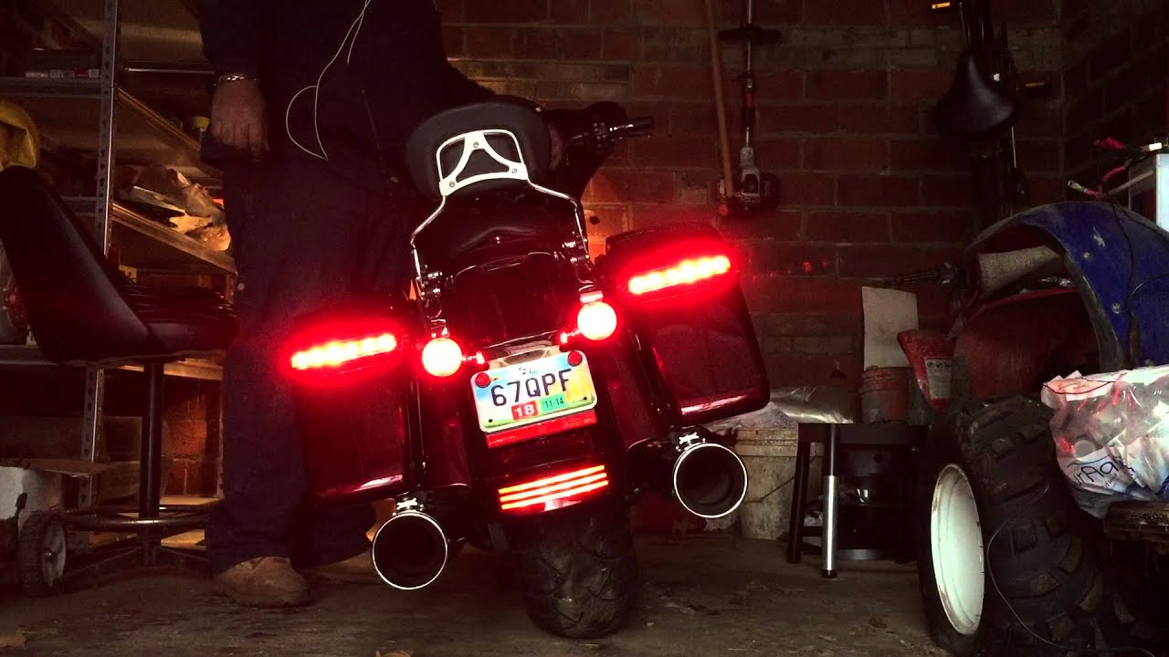 2014 Streetglide Special L E D Saddlebag Lights Youtube