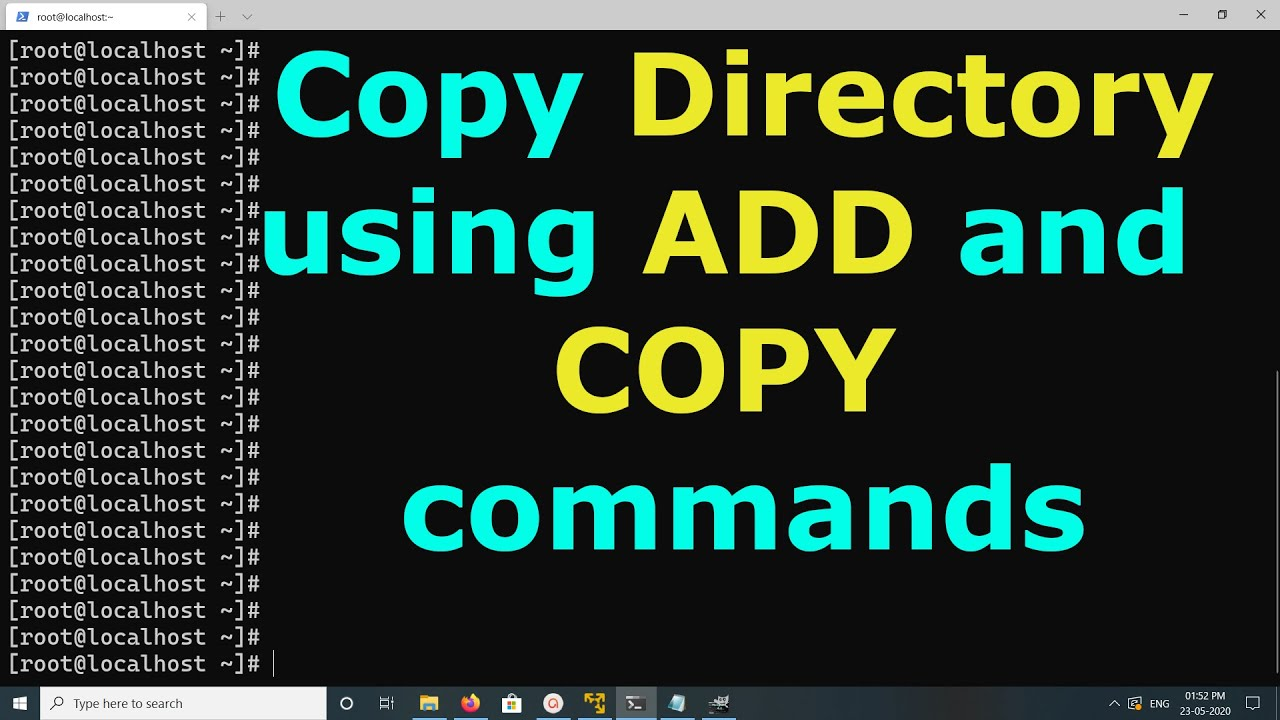 Docker Copy directory using ADD and COPY commands
