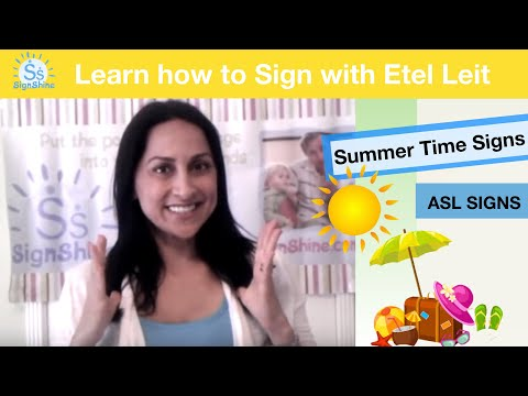 Summer Signs: Sun, Swim, Fun, Vacation, Ocean, ASL, Baby Sign Language