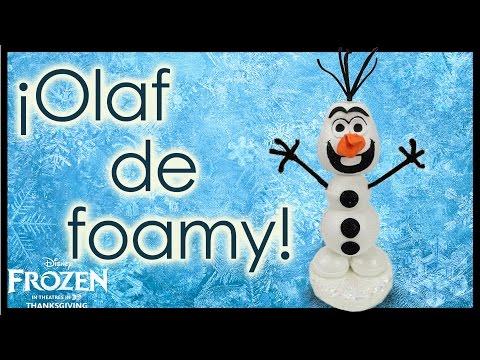 ¡Tutorial Olaf de Frozen! Todo de Foamy - Conny
