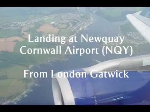 Landing at Newquay Cornwall Airport/RAF St Mawgan, British Airways Airbus A319-100