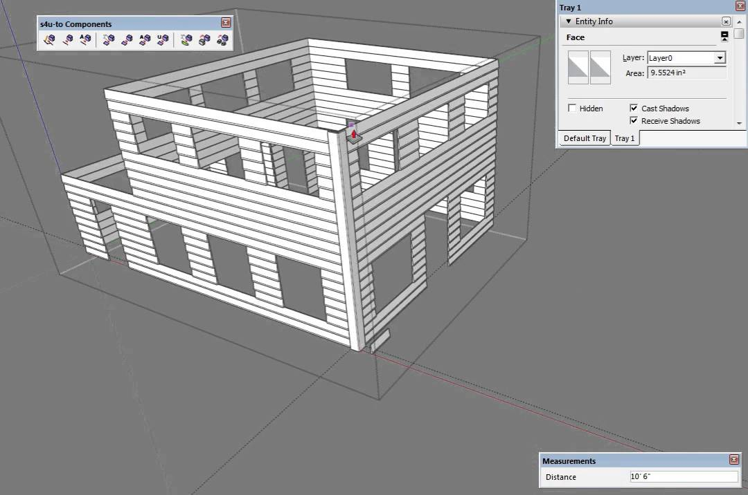 Sketchup - 3D Siding with the s4u To Components plugin