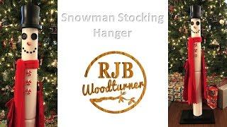 Snowman Stocking Hanger